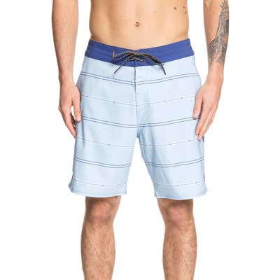Quiksilver Waterman Collection Liberty Stripe Board Shorts, Blue