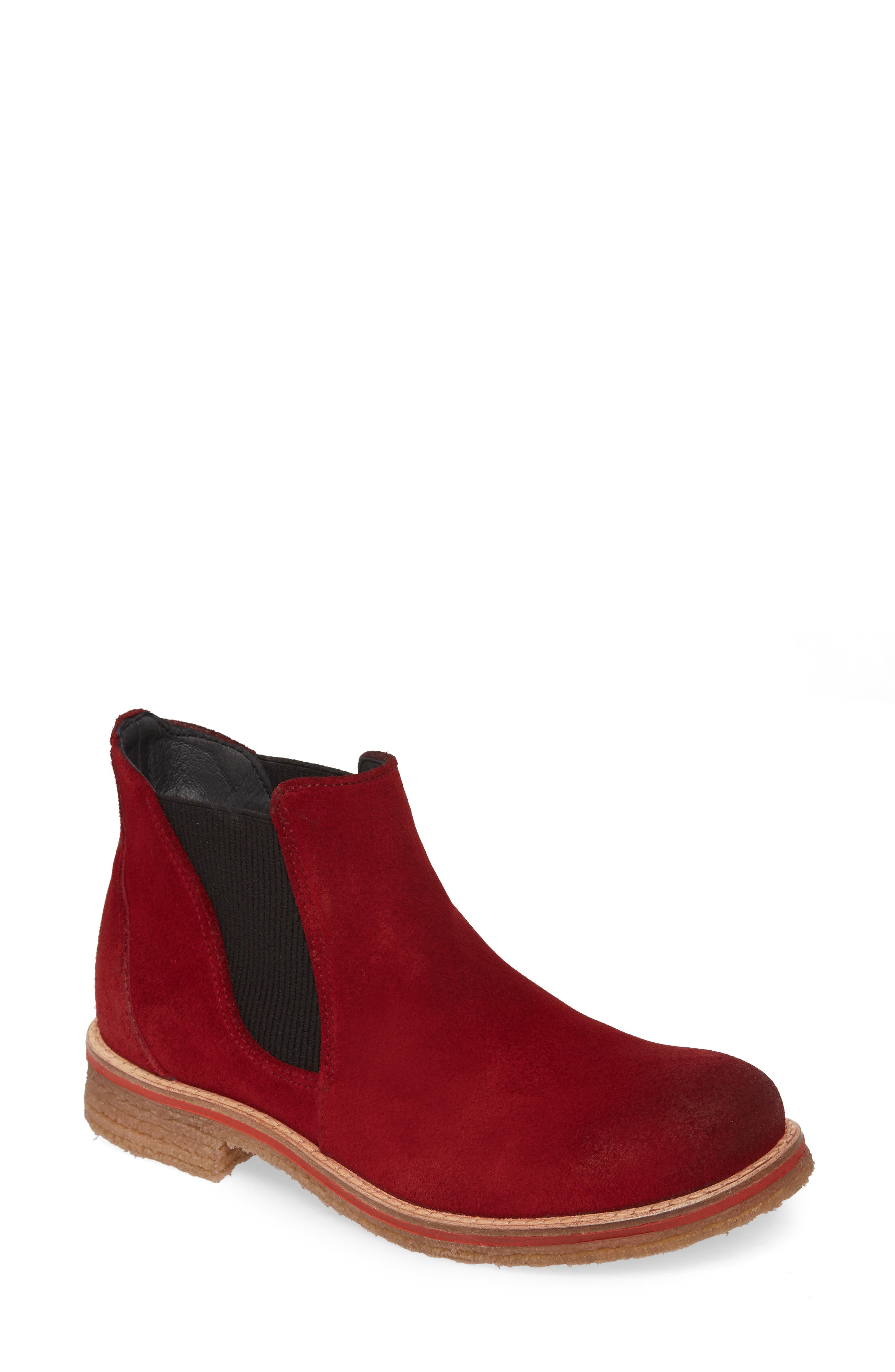 Bos. & Co. Brave Waterproof Chelsea Boot, Red