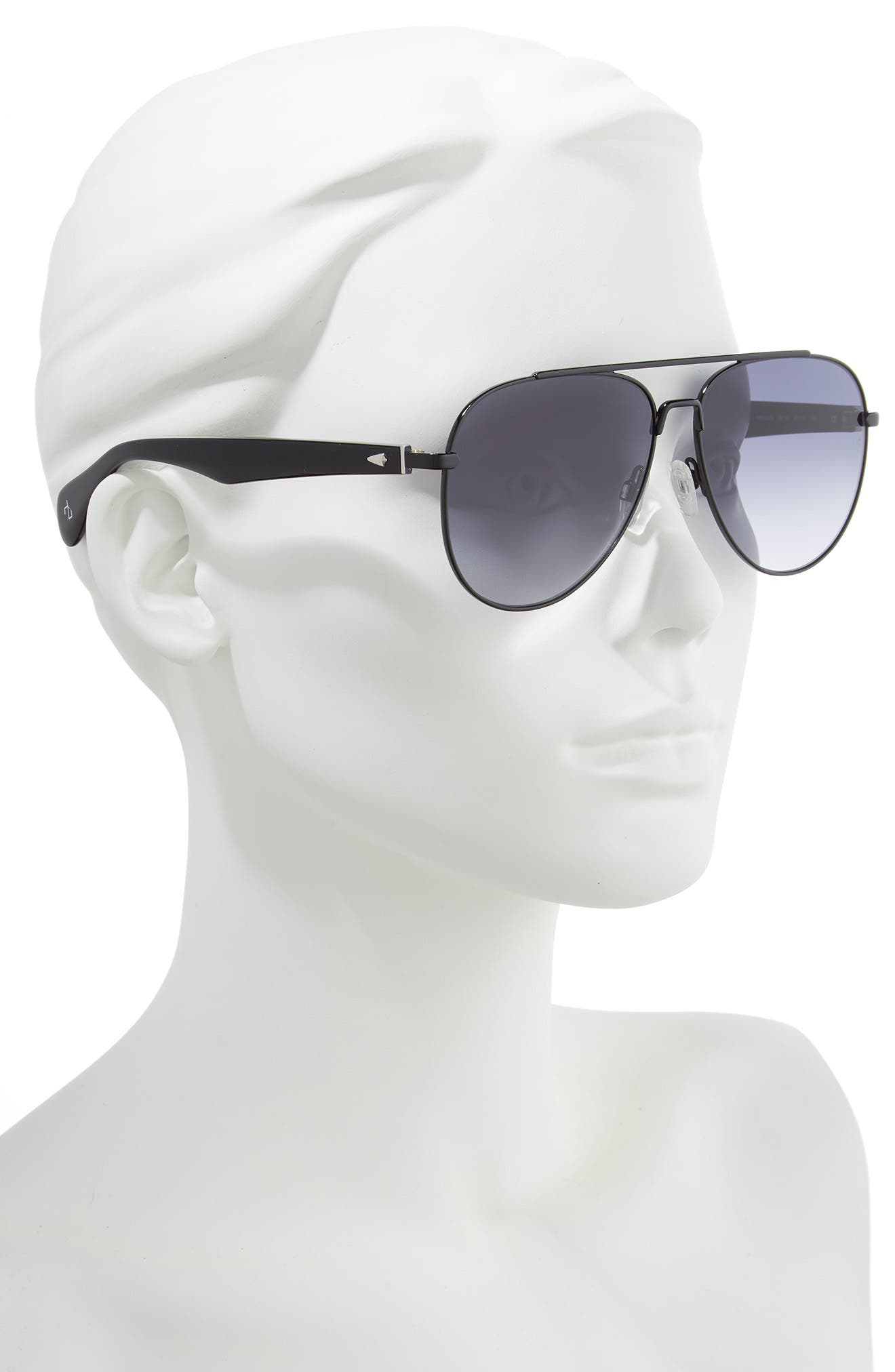 ,                             62mm Oversize Aviator Sunglasses,                             Alternate thumbnail 2, color,                             002