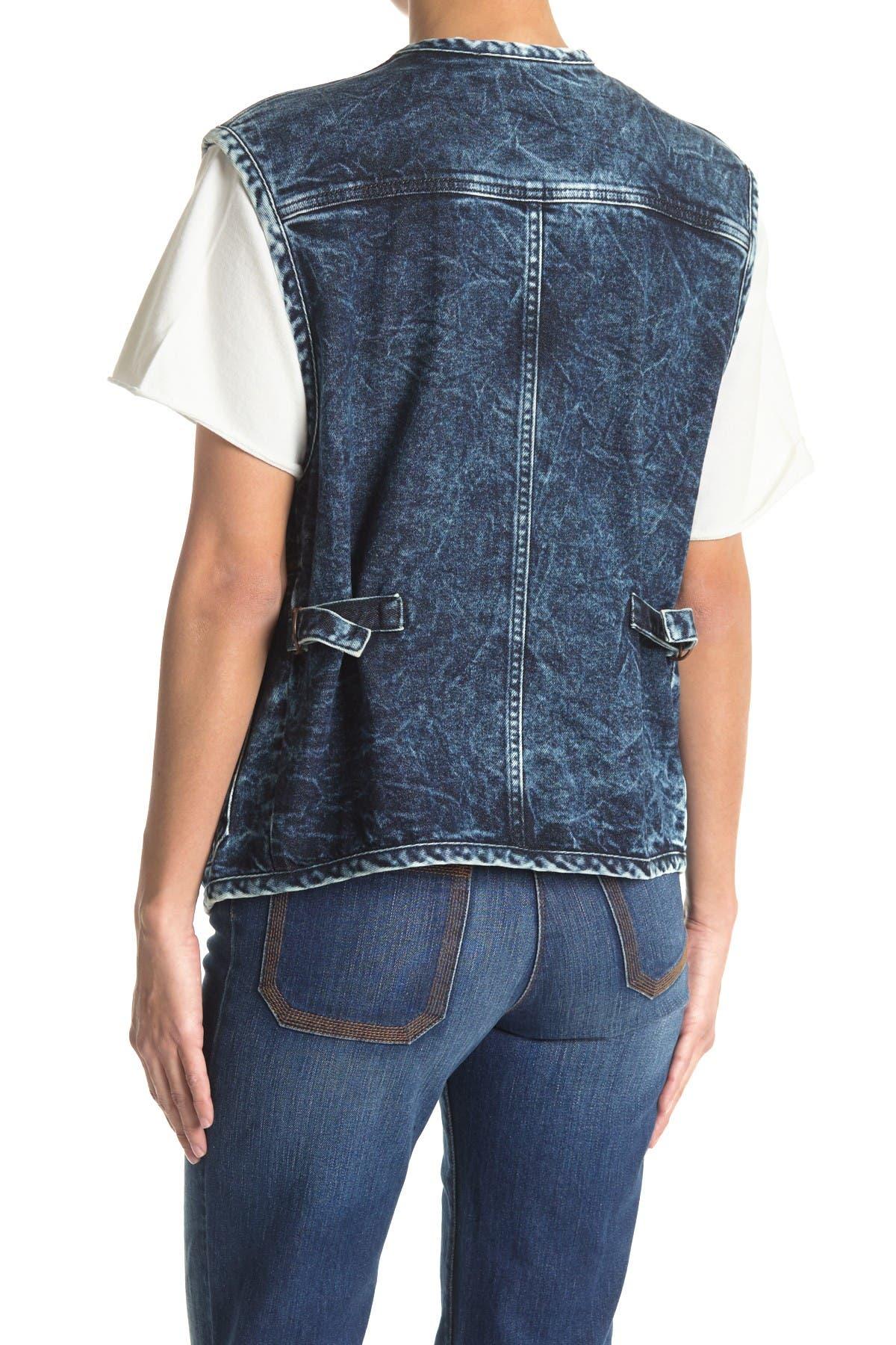 Image of See By Chloe Zip Denim Utility Vest