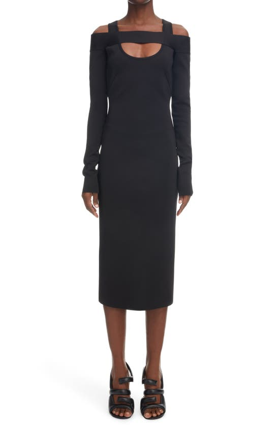 Givenchy Dresses COLD SHOULDER LONG SLEEVE DRESS