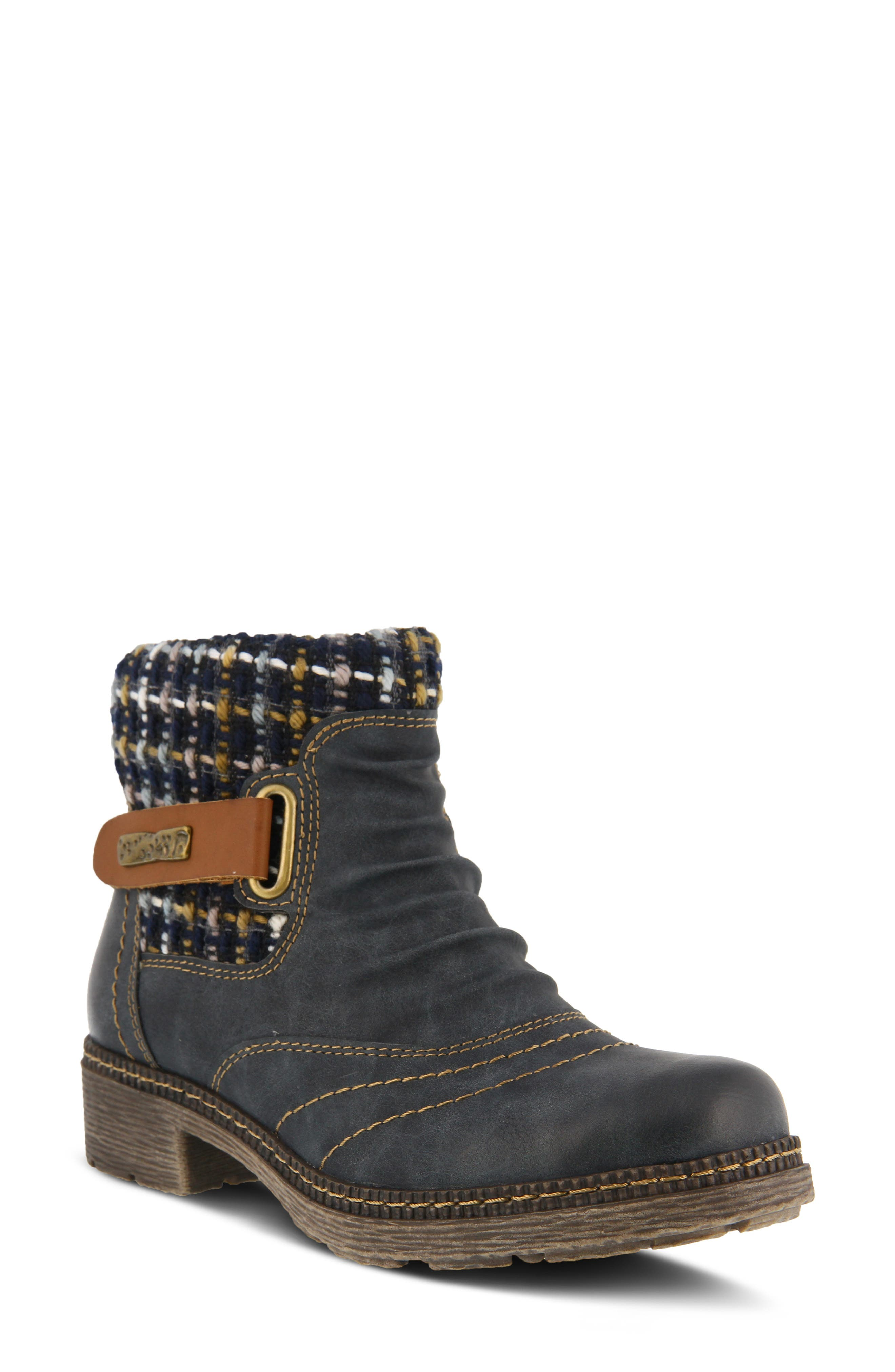 Spring Step Citrine Bootie - Blue