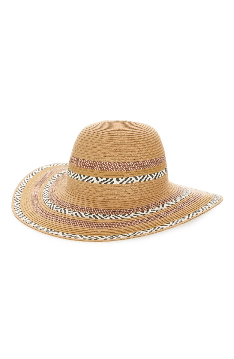 SOLE SOCIETY Embroidered Floppy Sun Hat, Main, color, 250