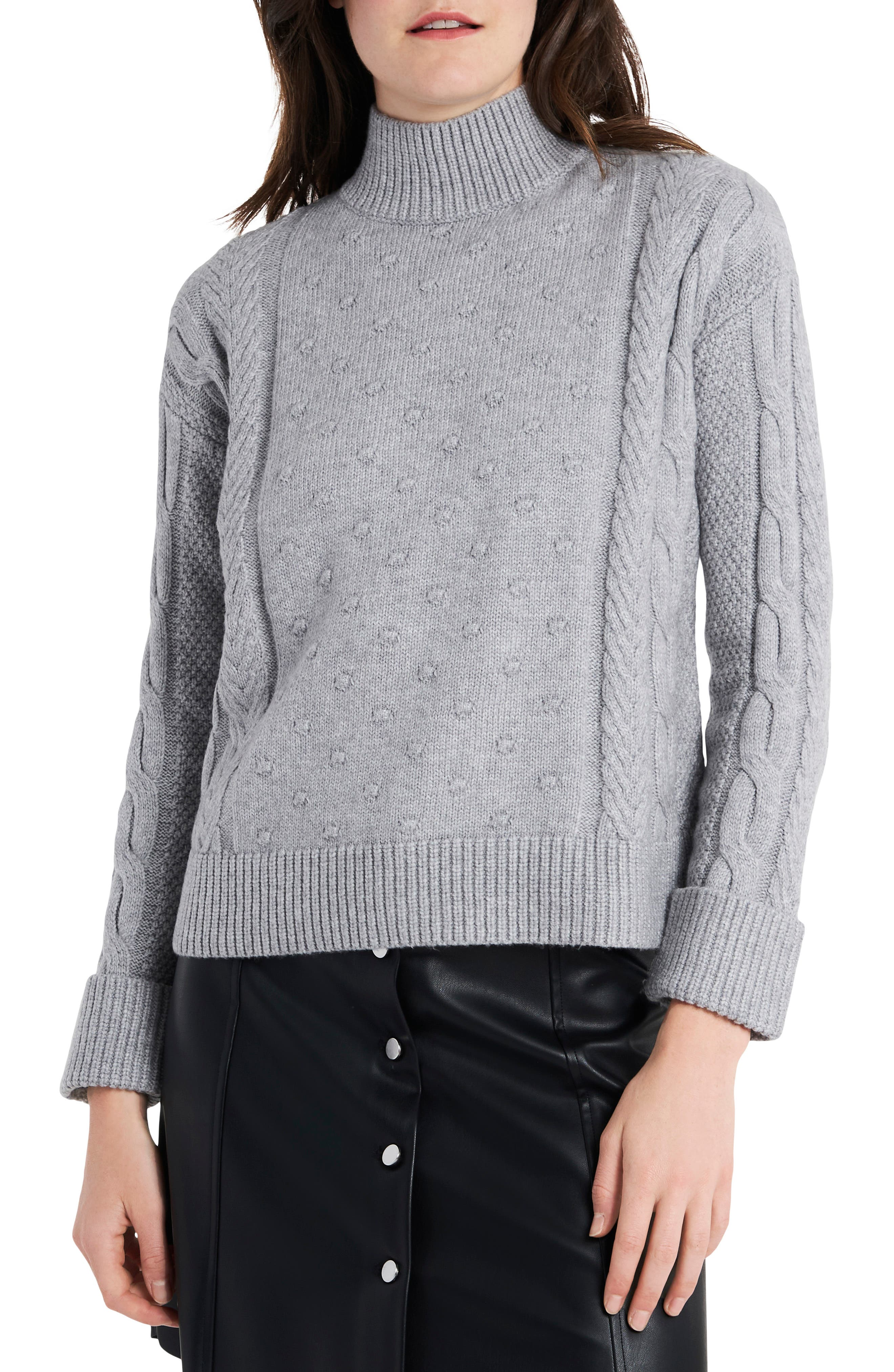 1.STATE Mock Neck Cable Sweater | Nordstrom