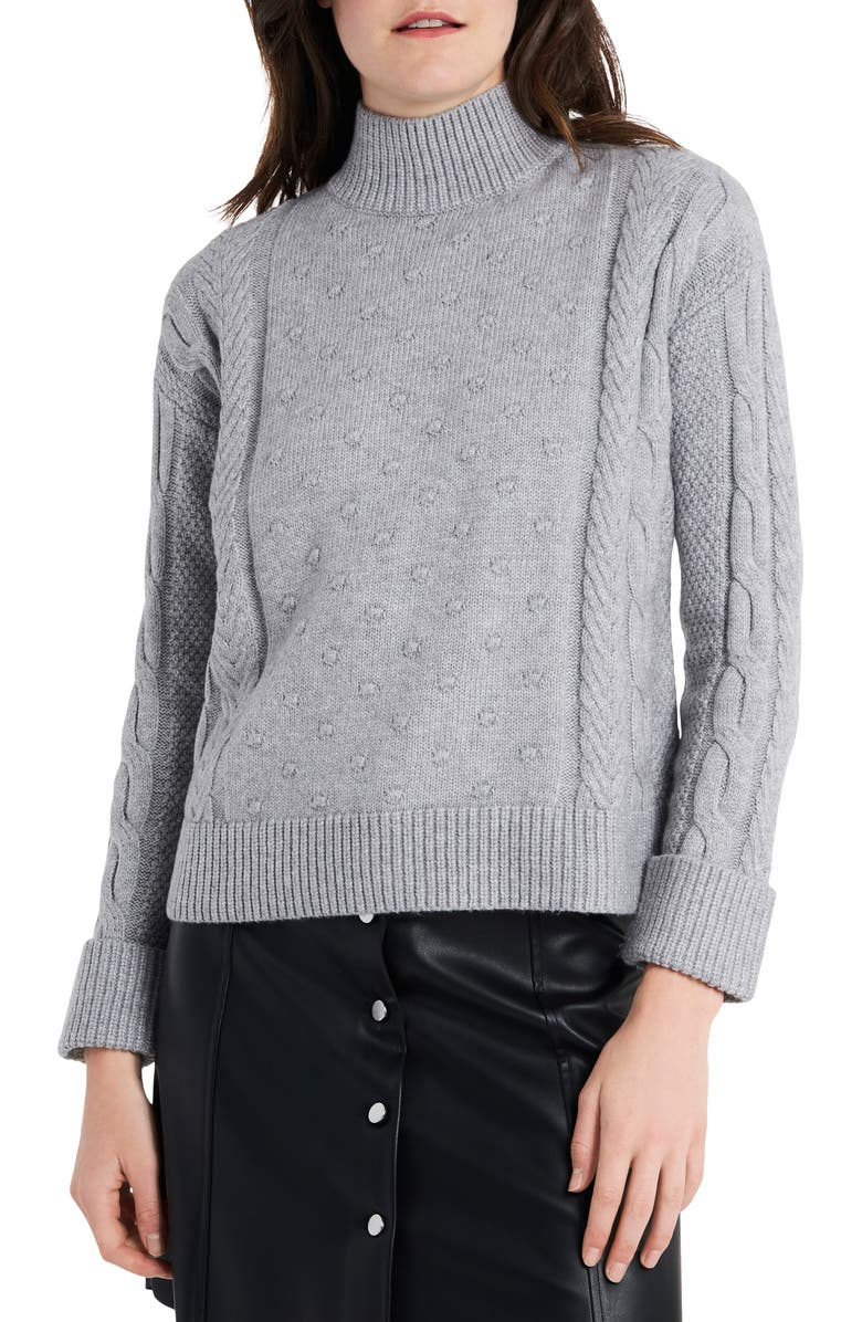 1.STATE Mock Neck Cable Sweater, Main, color, 078