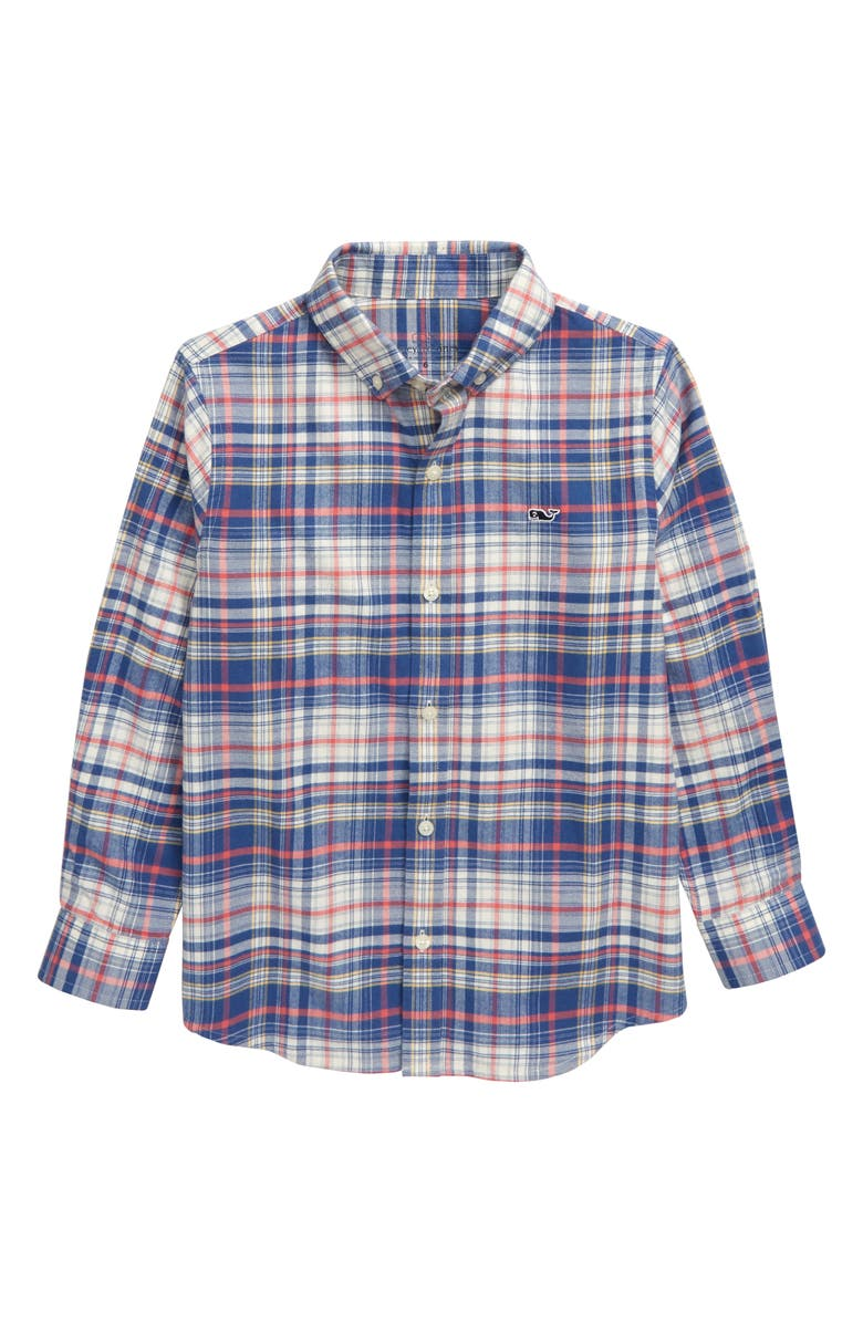 VINEYARD VINES Harpers Flannel Whale Shirt, Main, color, LOBSTER REEF
