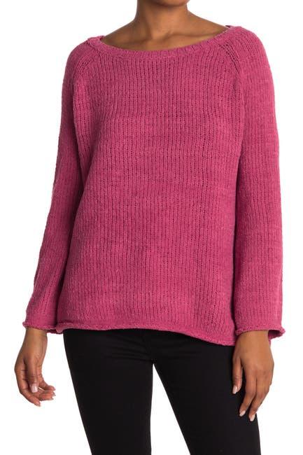 Image of LOVE LILI Crew Neck Raglan Sleeve Pullover Sweater