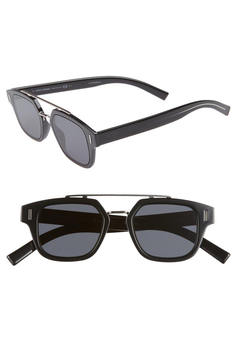 DIOR 46mm Square Sunglasses, Main, color, 001