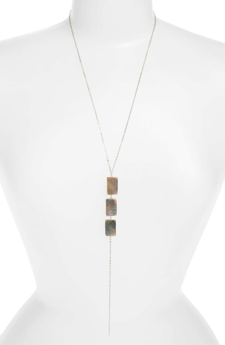 MARIDA Structure Mother of Pearl Y Necklace, Main, color, 710