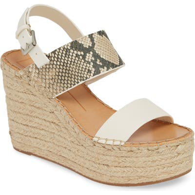 Dolce Vita Spiro Platform Wedge Sandal, Ivory