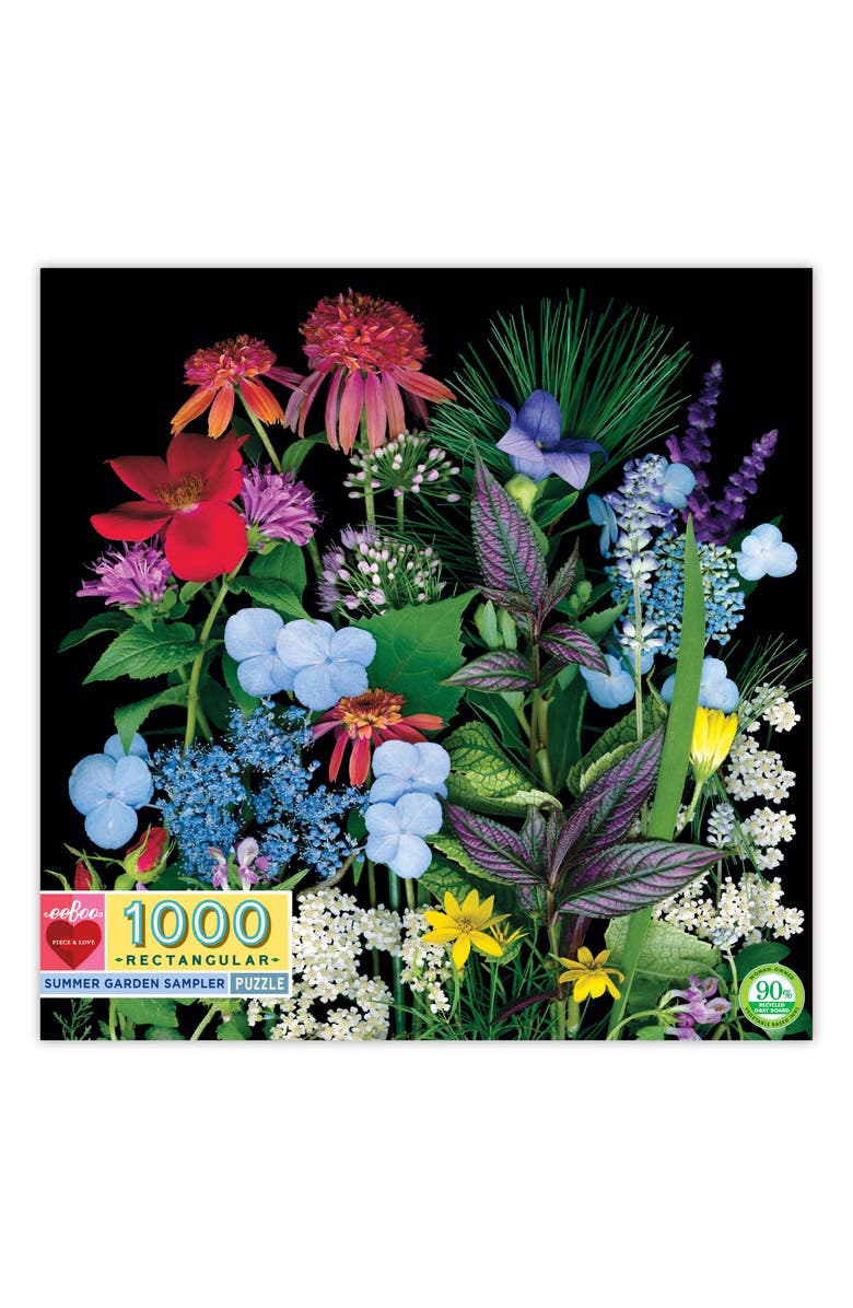EEBOO Summer Garden Samples 1000-Piece Puzzle, Main, color, 960
