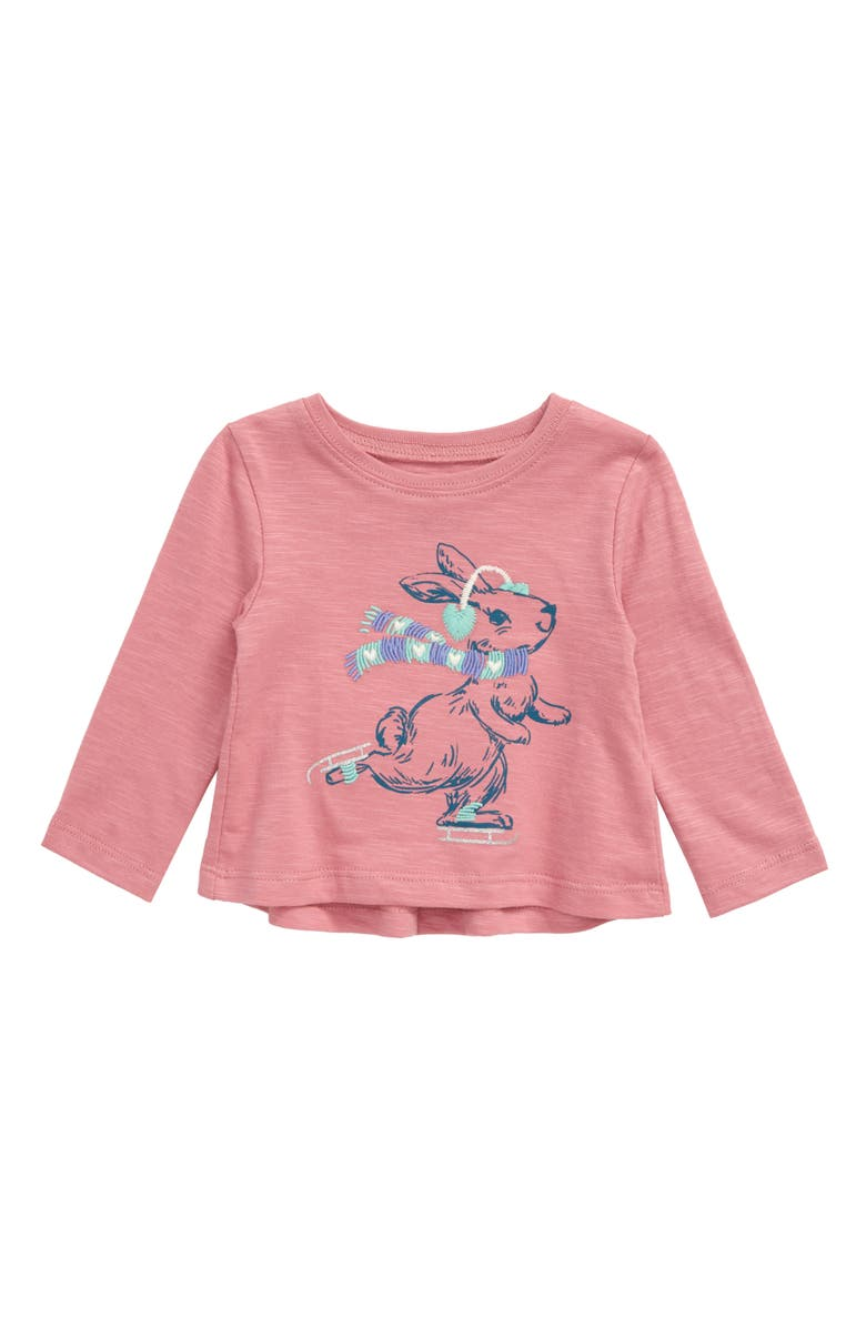 HATLEY Cozy Embroidered Graphic Tee, Main, color, PINK