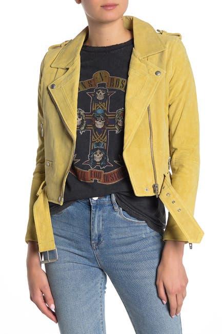 Image of BLANKNYC Denim Morning Suede Moto Jacket