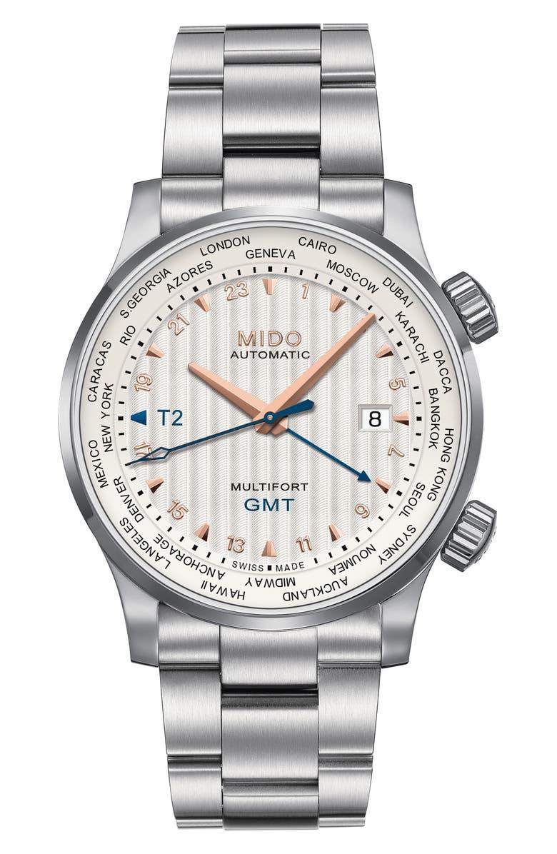 MIDO Multifort Automatic Bracelet Watch, Main, color, 040