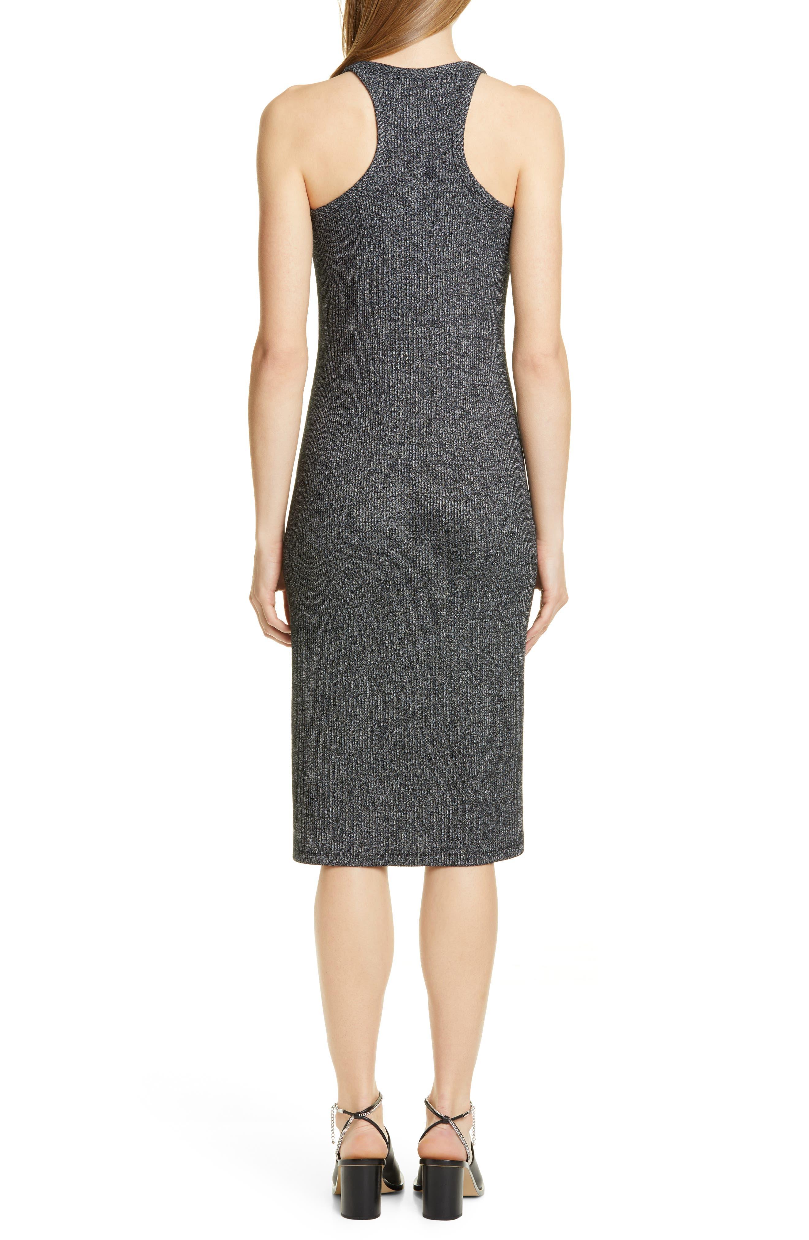 ,                             Clara Torqued Midi Tank Dress,                             Alternate thumbnail 2, color,                             BLACK HEATHER