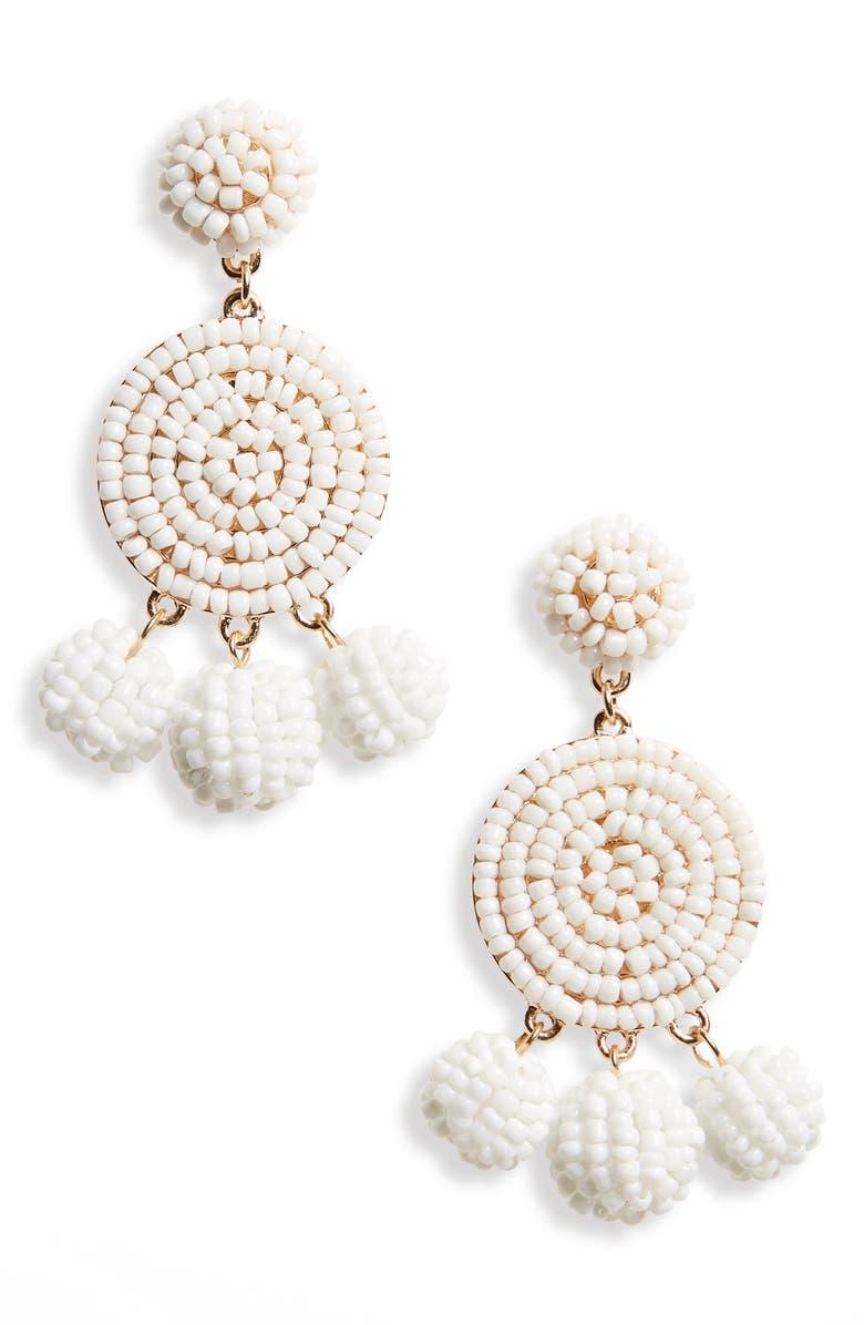 PANACEA Circle Drop Earrings, Main, color, 100