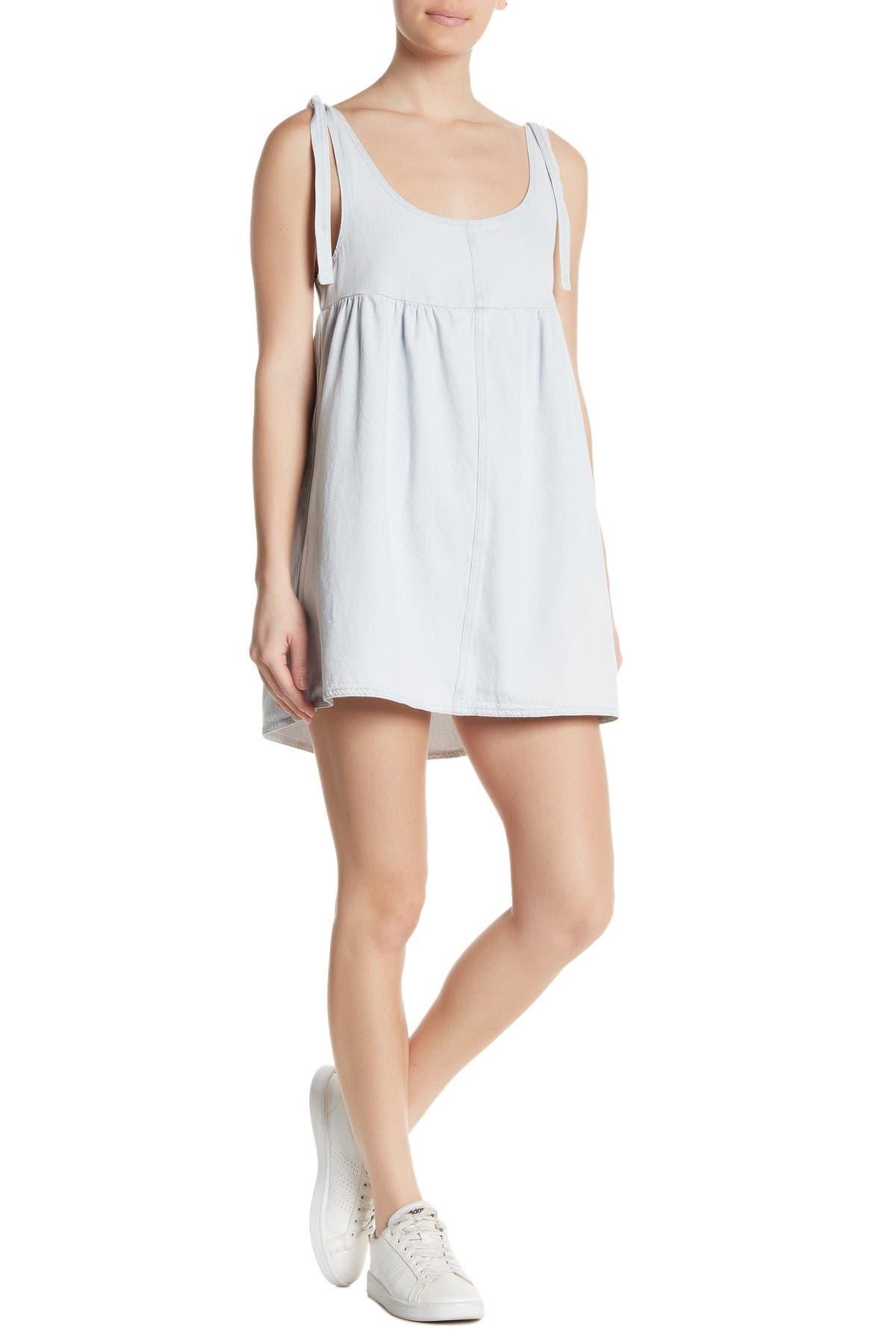 Image of Cotton On Denim Babydoll Pinafore Mini Dress