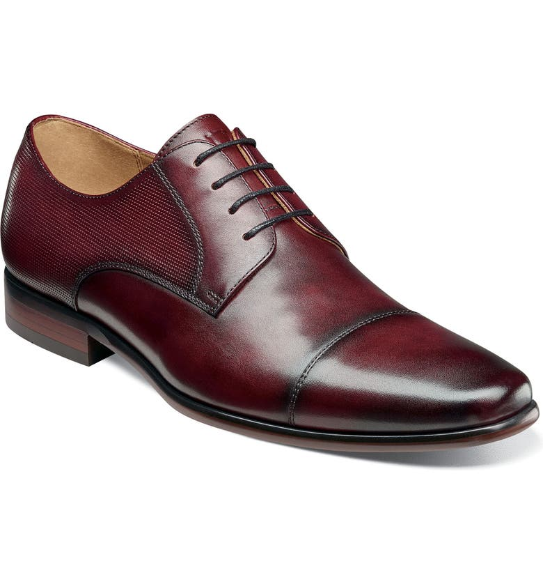 FLORSHEIM Postino Cap Toe Derby, Main, color, BURGUNDY