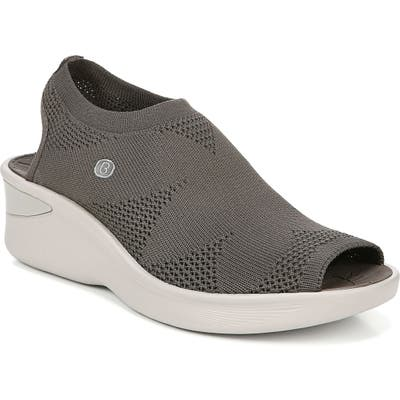 Bzees Secret Peep Toe Knit Sneaker- Brown