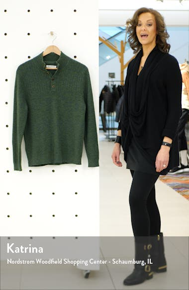 Mock Neck Henley Sweater, sales video thumbnail