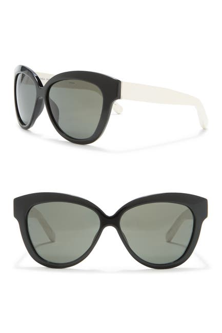 Image of Linda Farrow 60.5mm Cat Eye Sunglasses