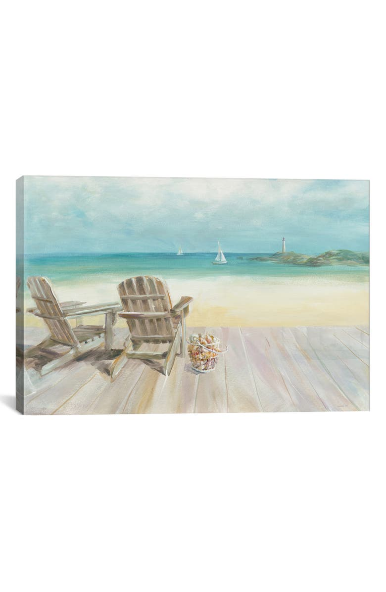 ICANVAS Seaside Morning No Window by Danhui Nai Giclée Print Canvas Art, Main, color, BLUE/ GREEN