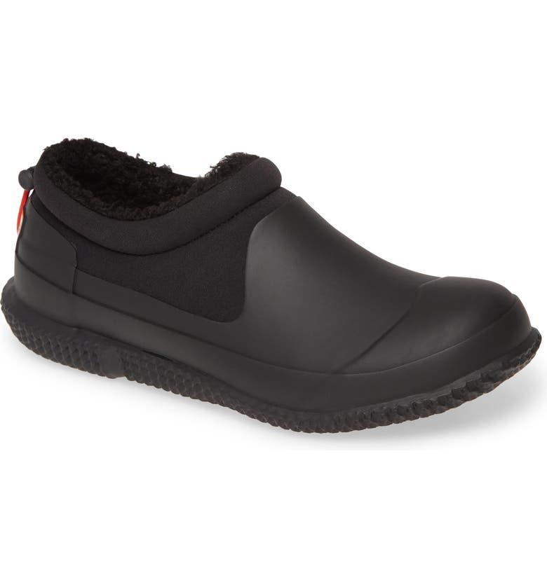 HUNTER Original Fleece Lined Slipper Shoe, Main, color, BLACK