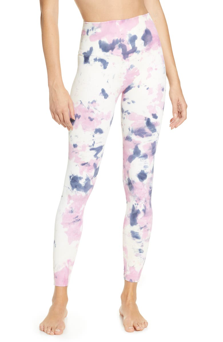 SPIRITUAL GANGSTER Amanda High Waist Leggings, Main, color, AMETHYST BLEACH TIE DYE