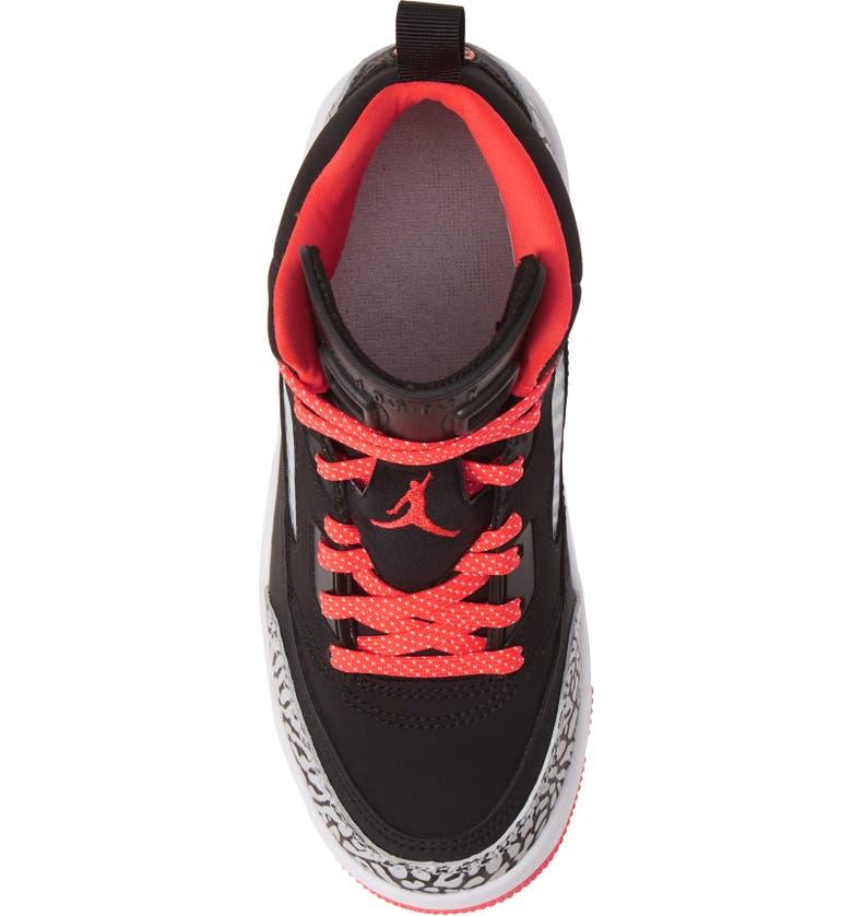 JORDAN Nike Jordan Spizike Basketball Shoe, Alternate, color, BLACK/ RED ORBIT