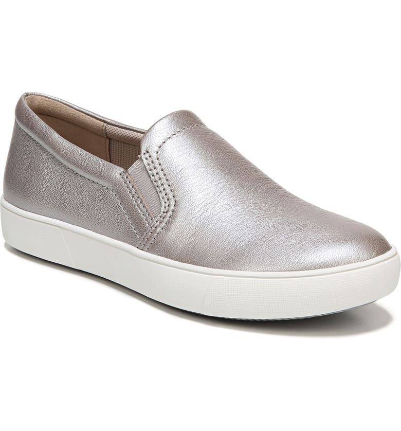 NATURALIZER Marianne Slip-On Sneaker, Main, color, SILVER LEATHER