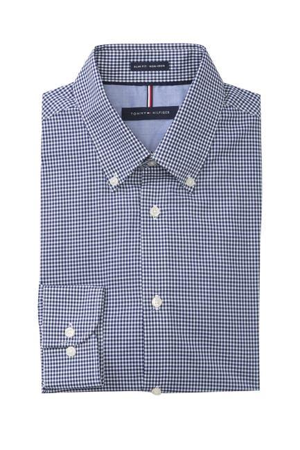 Image of Tommy Hilfiger Check Slim Fit Dress Shirt