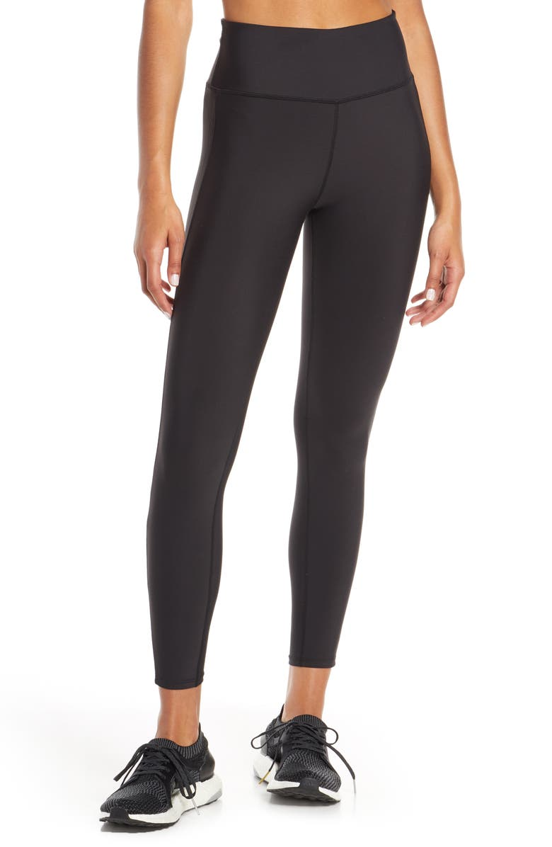 SOUL BY SOULCYCLE Grommet Side Stripe High Waist Tights, Main, color, 001
