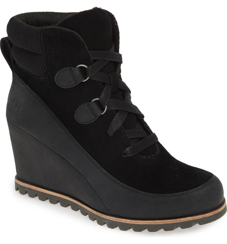 UGG<SUP>®</SUP> Kriston Waterproof Bootie, Main, color, BLACK LEATHER