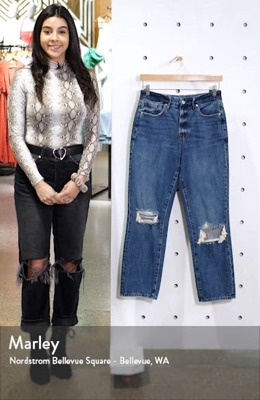 Good Vintage Ripped Ankle Straight Leg Jeans, sales video thumbnail