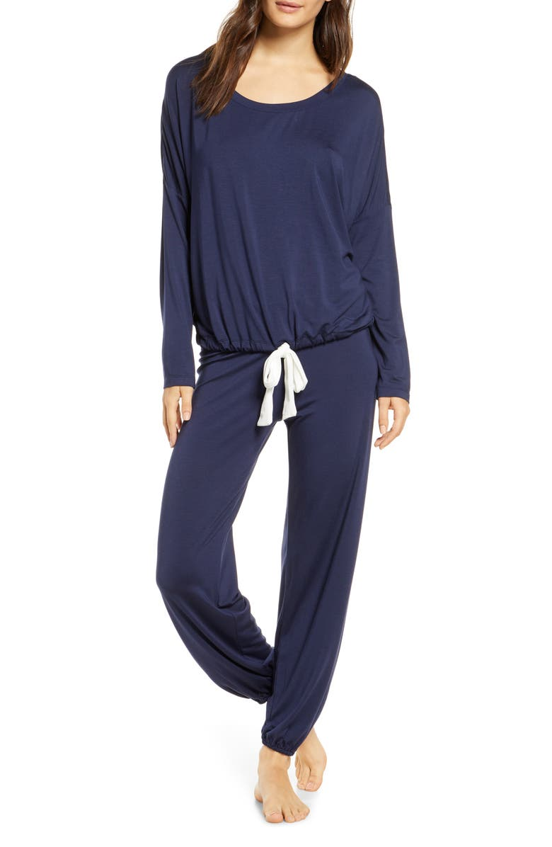 EBERJEY Gisele Slouchy Pajamas, Main, color, NORTHERN LIGHTS