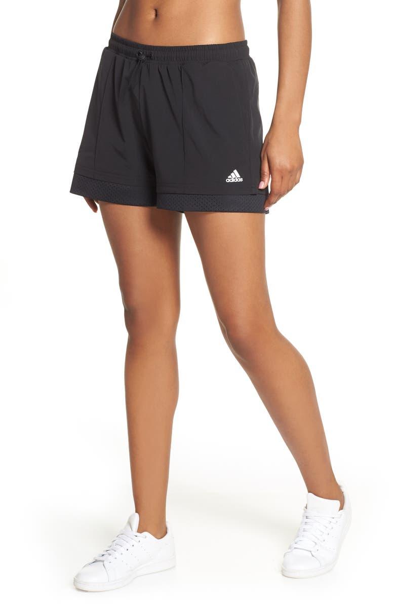 ADIDAS Athletic Shorts, Main, color, 001