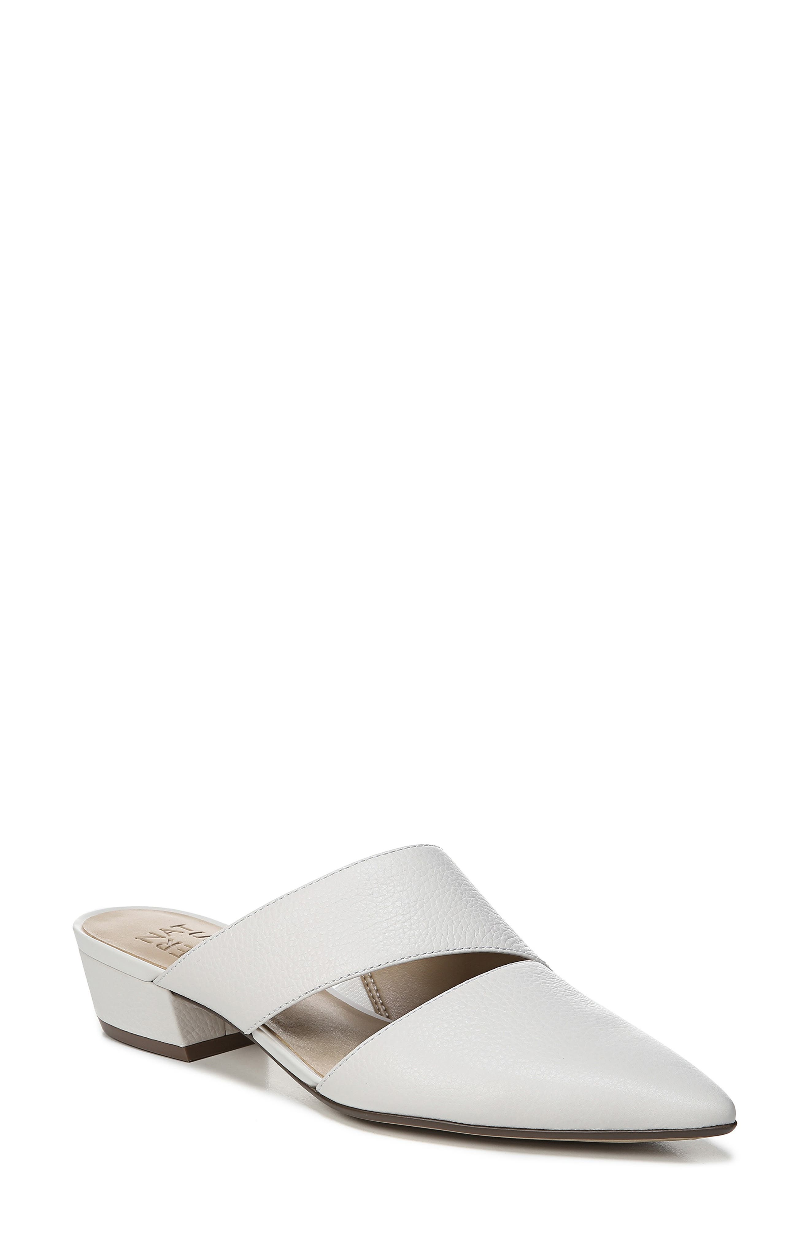 Naturalizer Bev Pointy Toe Mule, White