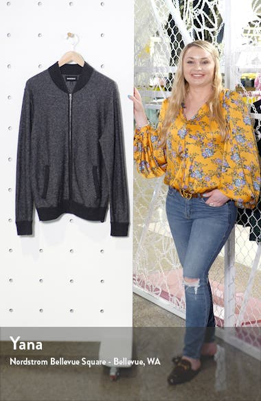 Cotton & Cashmere Bomber Sweater, sales video thumbnail