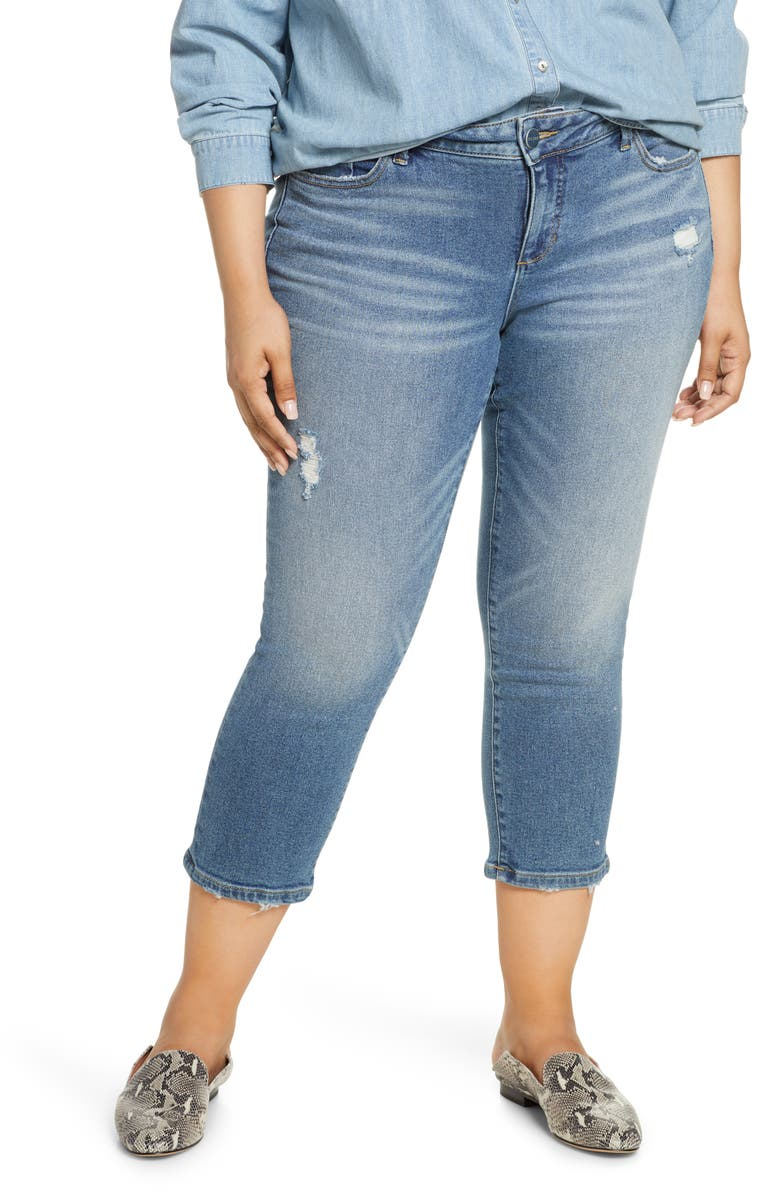 SLINK JEANS New School Ripped Crop Jeans, Main, color, PAYTON