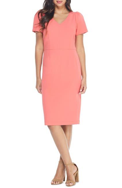 Image of Maggy London Puff Sleeve Sheath Dress