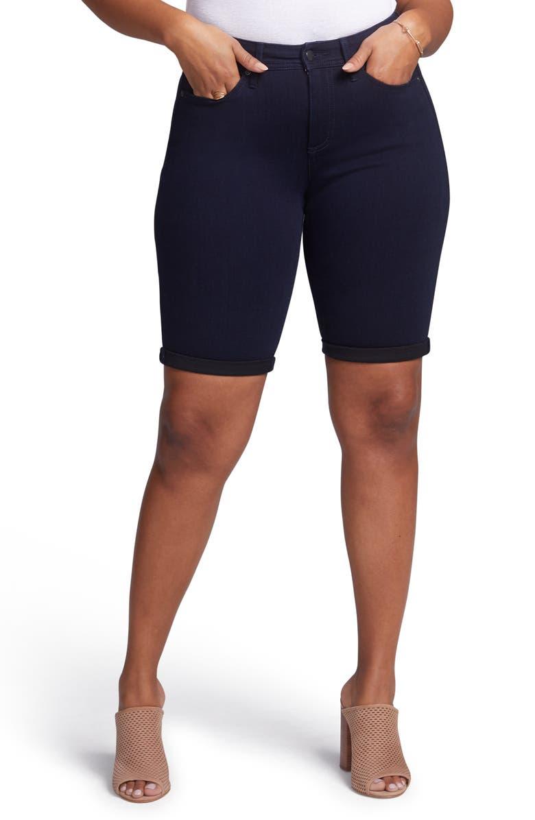 CURVES 360 BY NYDJ Denim Bermuda Shorts, Main, color, BOWEN