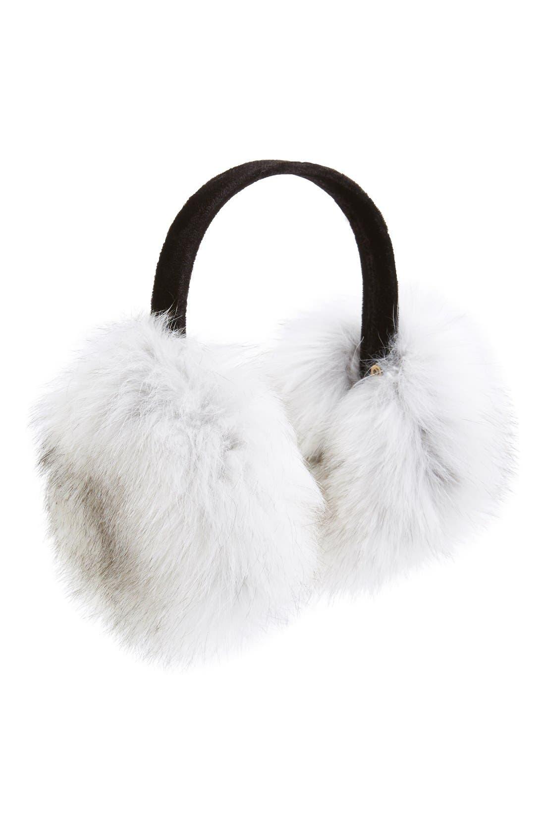 ,                             Genuine Fox Fur Earmuffs,                             Main thumbnail 13, color,                             400
