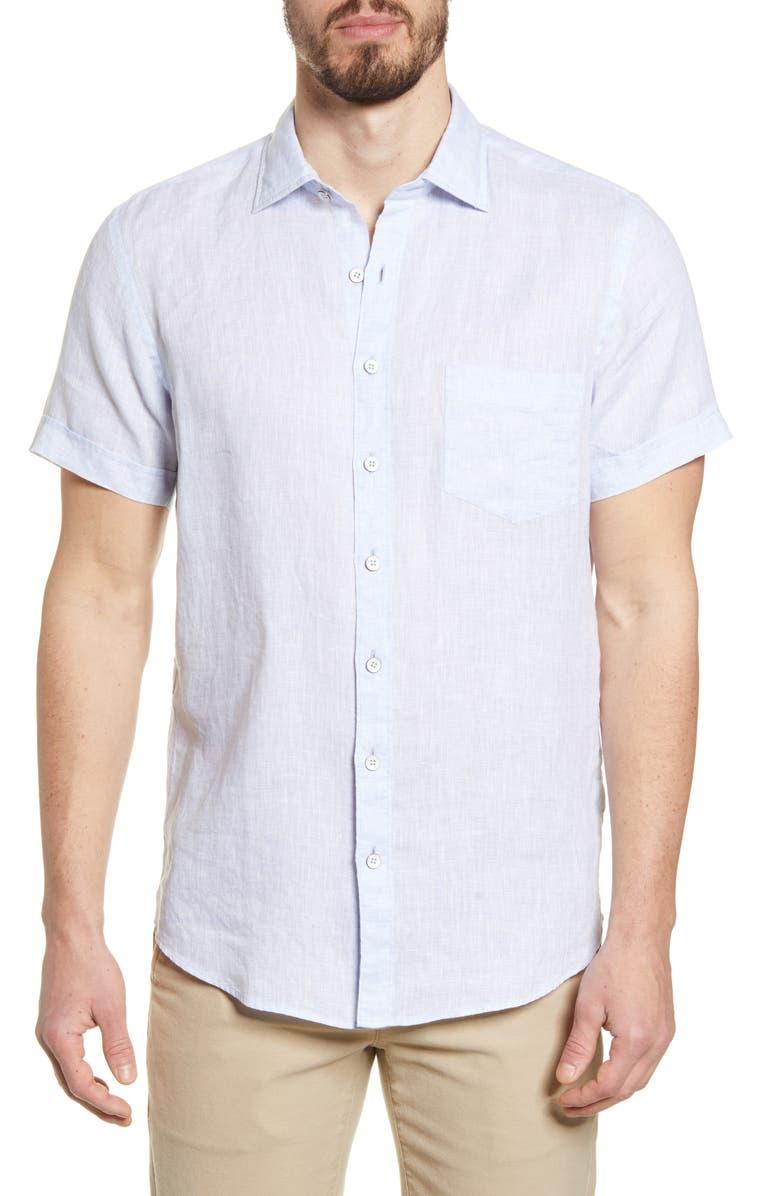 RODD & GUNN Regular Fit Ellerslie Linen Shirt, Main, color, OYSTER