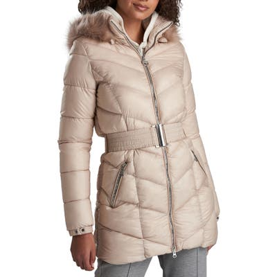 Barbour International Highpoint Quilted Hooded Puffer Jacket, US / 10 UK - Beige