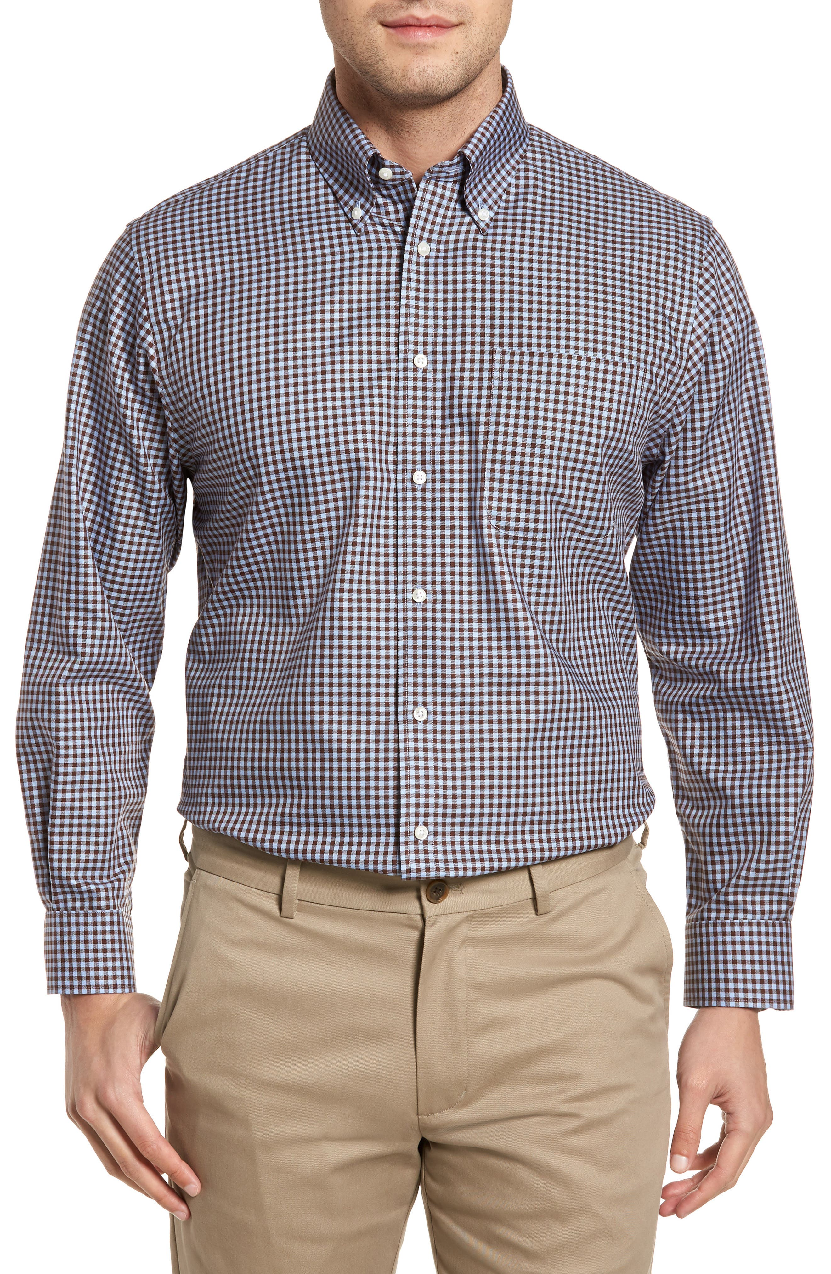 ,                             Traditional Fit Non-Iron Gingham Dress Shirt,                             Main thumbnail 41, color,                             211