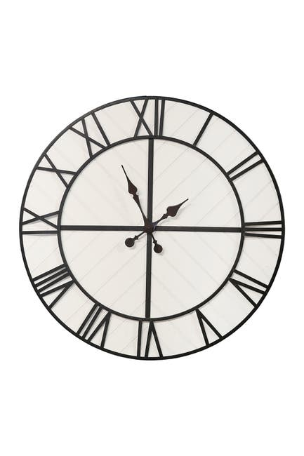Image of Stratton Home Rustic Wood Clock