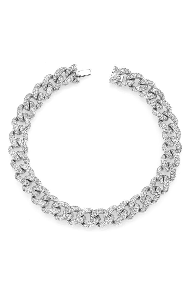 SHAY Diamond Pavé Link Bracelet, Main, color, DIAMOND