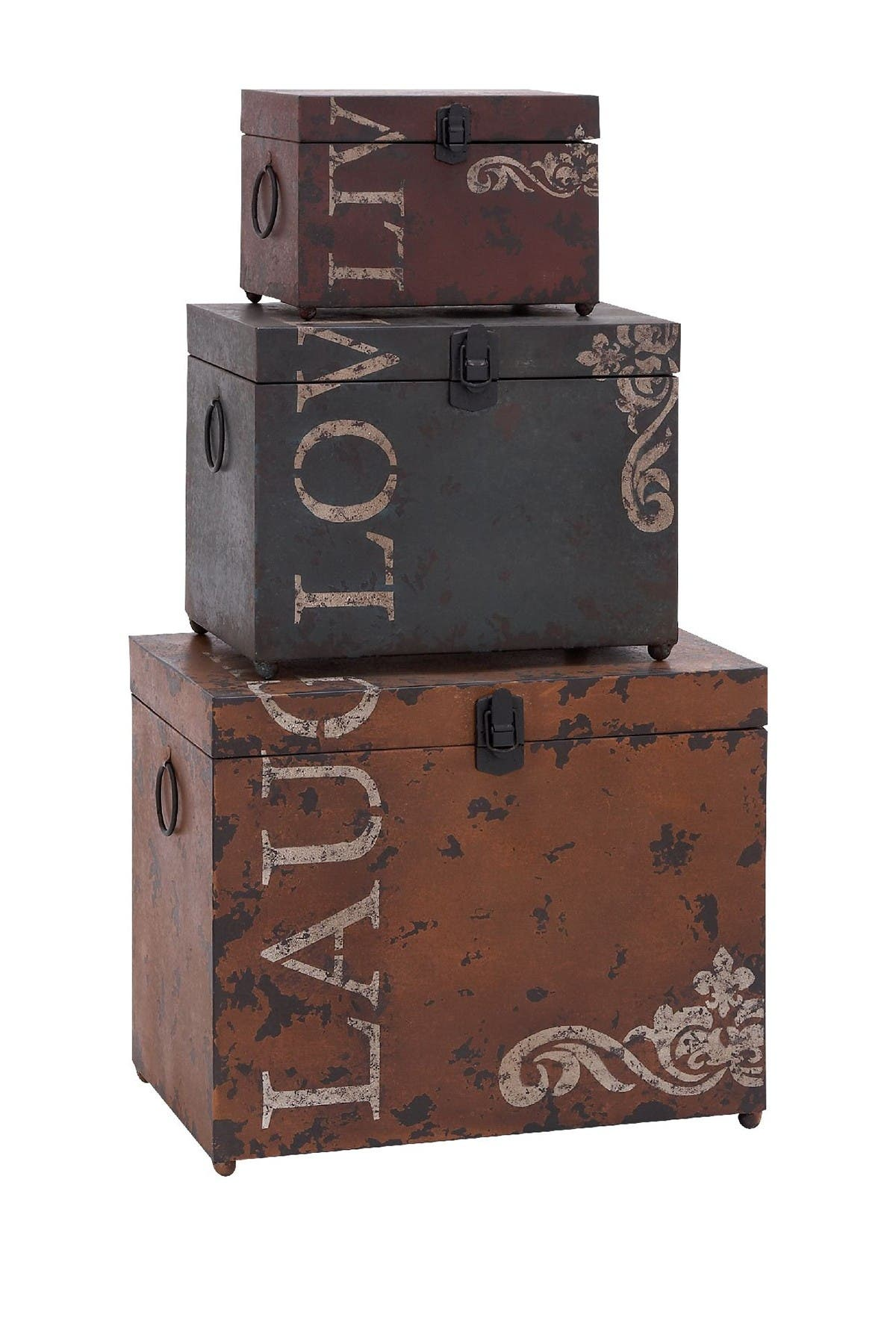 Image of Willow Row Metal Trunk - Set of 3