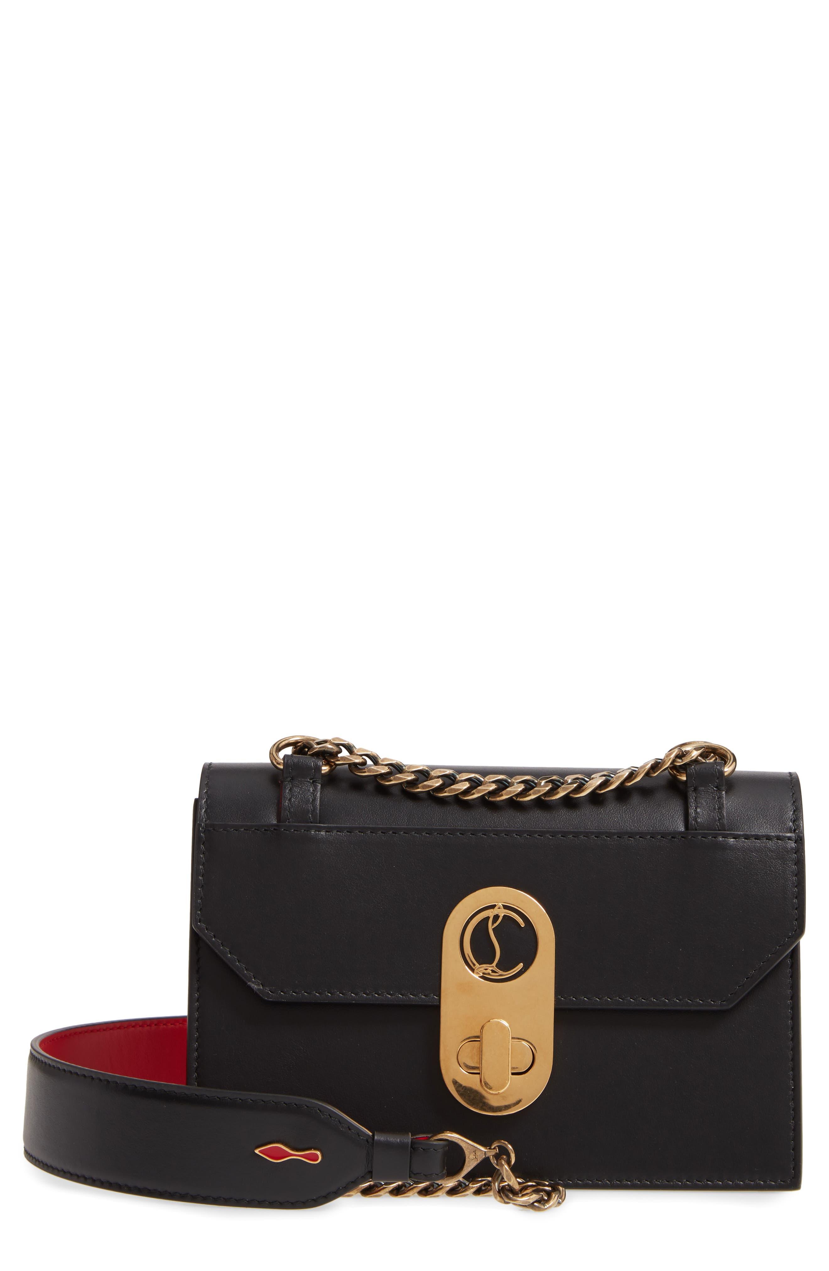 Christian Louboutin Mini Elisa Calfskin Leather Shoulder Bag | Nordstrom