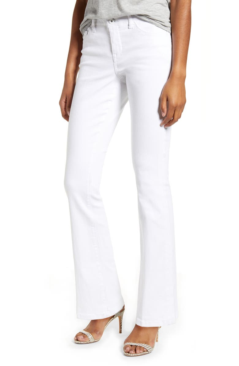 JAG JEANS Gloria High Waist Flare Jeans, Main, color, WHITE